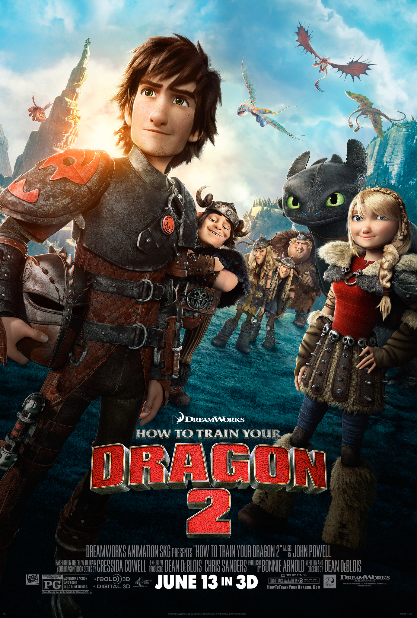 How to Train Your Dragon 2 (2014) - Directed by: Dean DeBloisStarring: Jay Baruchel, Cate Blanchett, Gerard Butler, Craig Ferguson, America Ferrera, Jonah Hill, Christopher Mintz-Plasse, T.J. Miller, Kristen Wigg, Djimon Hounsou, Kit HarringtonRated: PG for Adventure Action and Some Mild Rude HumorRunning Time: 1 h 42 mTMM Score: 4 stars out of 5STRENGTHS: Worldbuilding, Story, Consequences, Characters, Emotional Connection, MusicWEAKNESSES: Supporting Character's Subplot