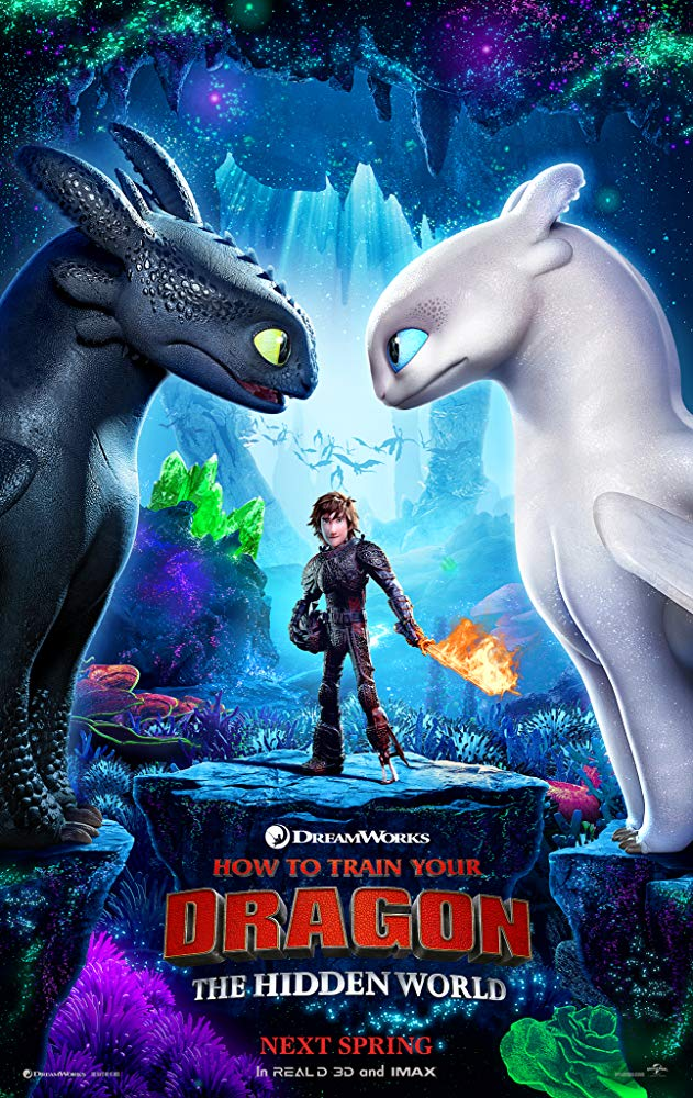 How to Train Your Dragon: The Hidden World (2019) - Directed by: Dean DeBloisStarring: Jay Baruchel, America Ferrera, F. Murray Abraham, Cate Blanchett, Gerard Butler, Craig Ferguson, Jonah Hill, Christopher Mintz-Plasse, Kristen Wiig, Kit HarringtonRated: PG for Adventure Action and Some Mild Rude HumorRunning Time: 1 h 44 mTMM Score: 3.5 stars out of 5STRENGTHS: Animation, Production Design, Visual Storytelling, Final ScenesWEAKNESSES: Uneven Pacing, Uninteresting Villain