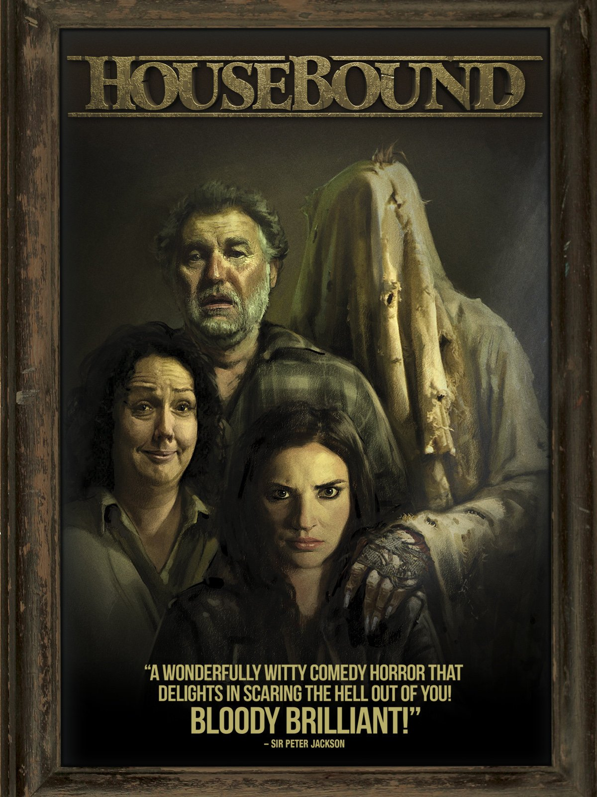 Housebound (2014) - Directed by: Gerard JohnstoneStarring: Morgana O'Reilly, Rima Te Wiata, Glen-Paul Waru, Ryan LamppRated: NR (Suggested R for Some Language and Comic Violence)Running Time: 1 h 47 mTMM Score: 3 stars out of 5STRENGTHS: Story, Tone, ComedyWEAKNESSES: Pacing