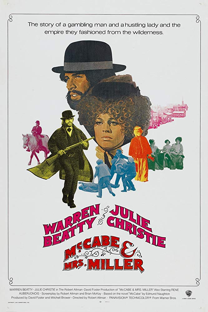 McCabe & Mrs. Miller (1971) - Directed by: Robert AltmanStarring: Warren Beatty, Julie Christie, Rene Auberjonois, Hugh Millais, Shelley Duvall, Corey FischerRated: RRunning Time: 2 hTMM Score: 5 stars out of 5STRENGTHS: Story, Acting, Pacing, Production DesignWEAKNESSES: -