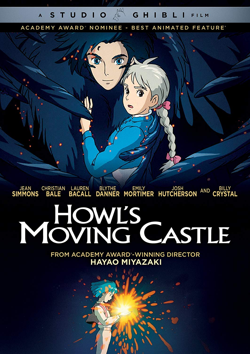 Howl's Moving Castle (2004) - Directed by: Hayao MiyazakiStarring: Christian Bale, Emily Mortimer, Billy CrystalRated: PG for Frightening Images, And Brief Mild LanguageRunning Time: 1h 59mTMM Score: 4.5 StarsSTRENGTHS: Animation, Themes, Characters, Lots of FunWEAKNESSES: Ending