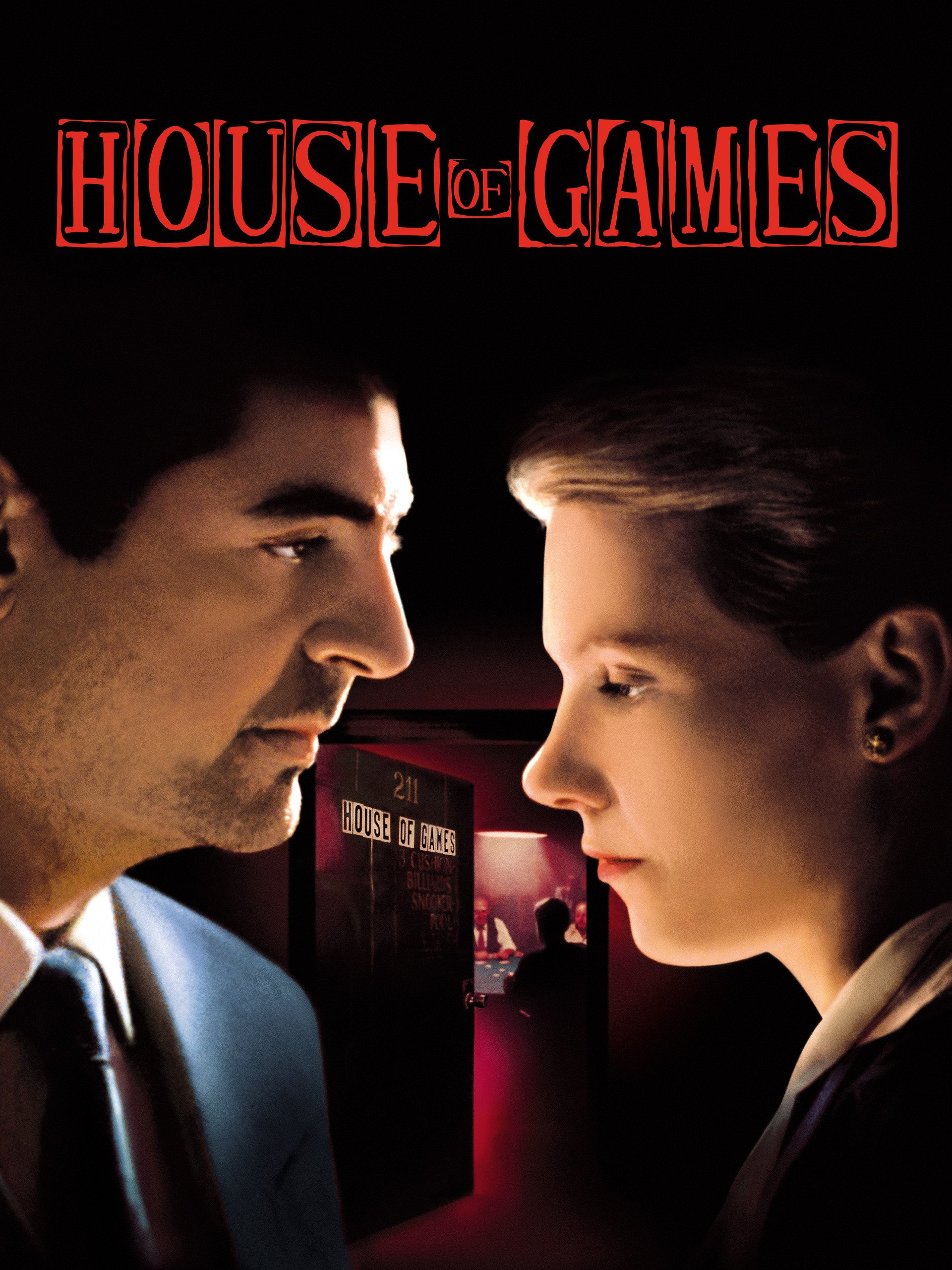 House of Games (1987) - Directed by: David MametStarring: Lindsay Crouse, Joe Mantegna, Mike Nussbaum, William H MacyRated: RRunning Time: 1 h 42 mTMM Score: 4 stars out of 5STRENGTHS: Writing, DirectingWEAKNESSES: Acting