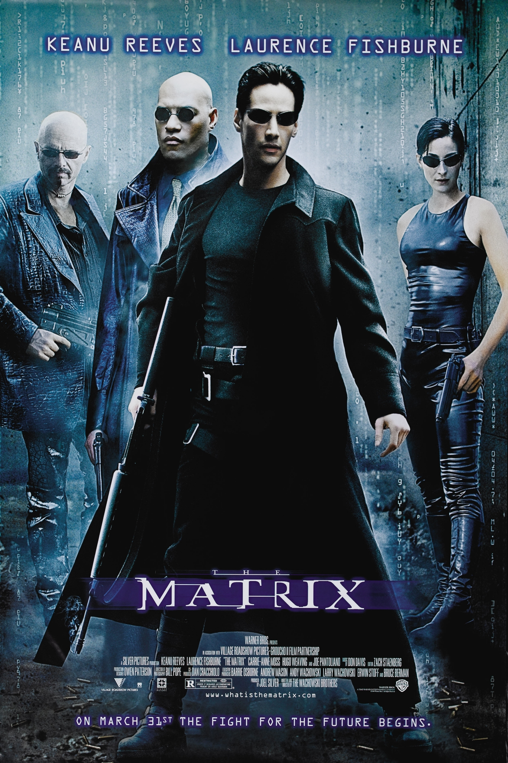 The Matrix (1999) - Directed By: The WachowskisStarring: Keanu Reeves, Laurence Fishburne, Carrie-Anne Moss, Hugo Weaving, Joe PantolianoRated: RRun Time: 2h 16mTMM Score: 5 StarsStrengths: Effects, Story, Action SequencesWeakness: Unimpressive Acting
