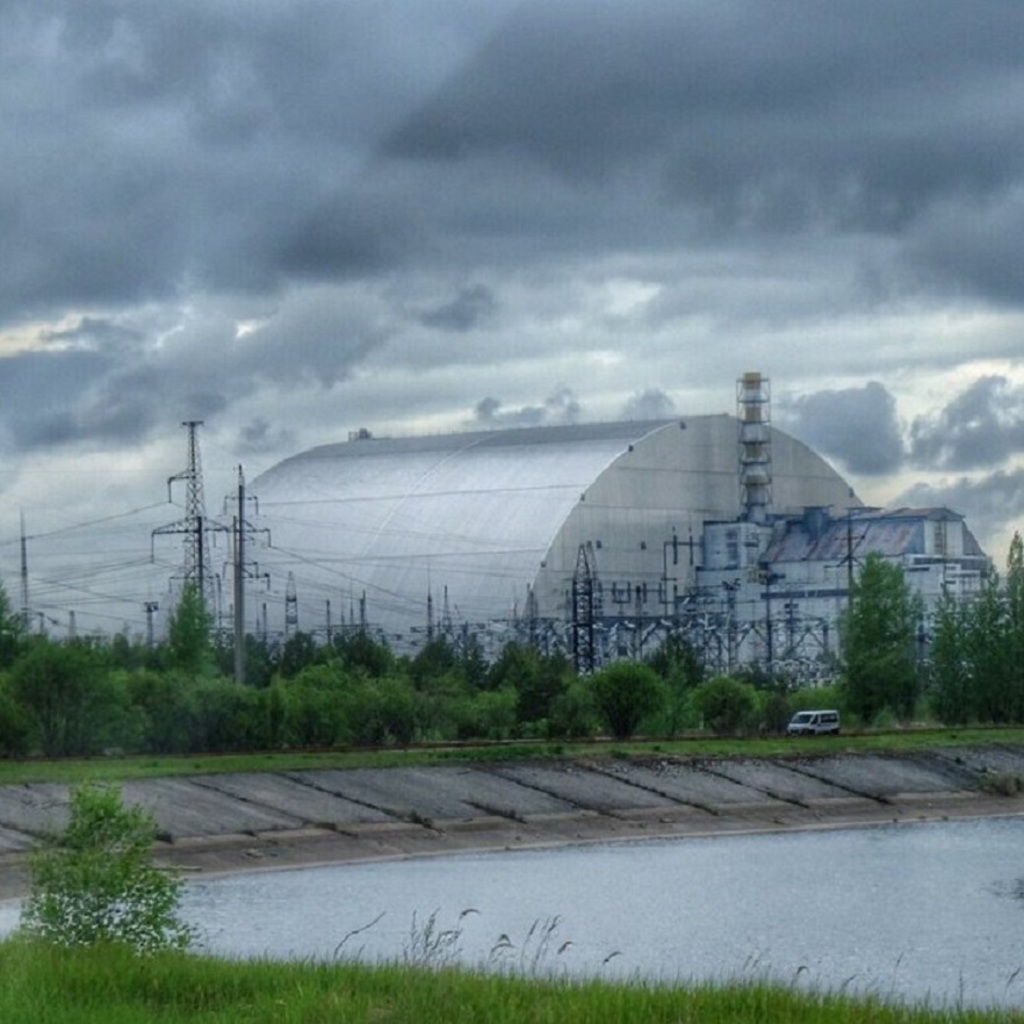 Chernobyl today with the New Safe Confinement sarcophagus overtop of reactor four. This New Safe Confinement shelter is meant as a confinement plan for the next hundred years.