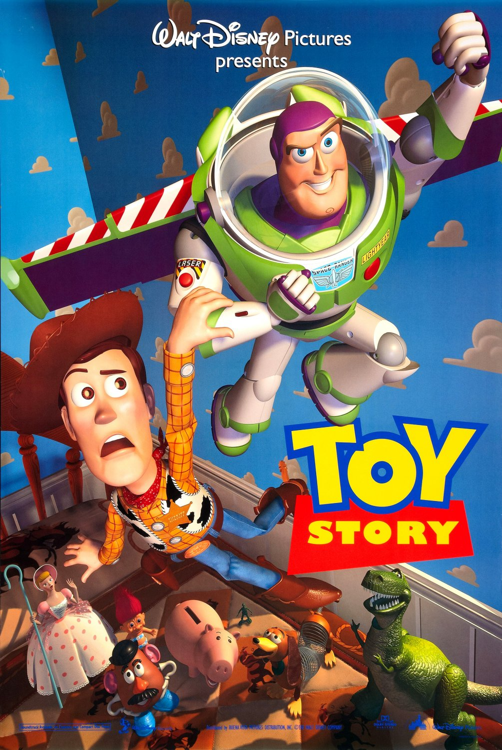Toy Story (1995) - Directed By: John LasseterStarring: Tom Hanks, Tim Allen, Don Rickles, Jim Varney, Wallace Shawn, John RatzenbergerRated: G RatedRun Time: 1h 21mTMM Score: 4 StarsStrengths: Story, HumorWeakness: None