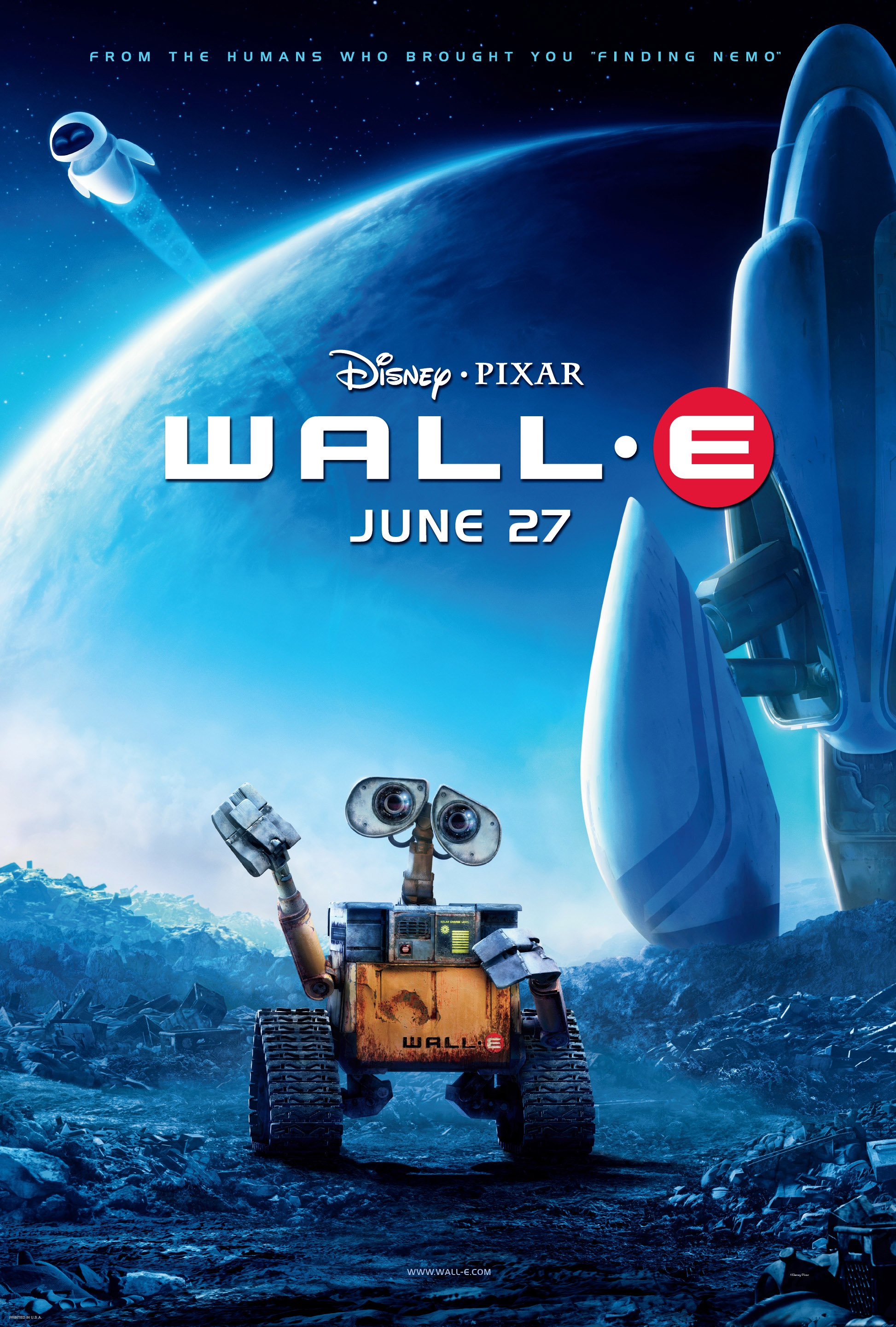 Wall-E (2008) - Directed By: Andrew StantonStarring: Ben Burtt, Elissa Knight, Jeff Garlin, John Ratzenberger, Fred WillardRated: GRun Time: 1h 38mTMM Score: 3 StarsStrengths: First ActWeakness: The Rest