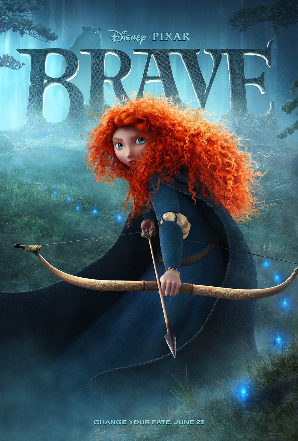 Brave (2012) - Directed By: Mark Andrews, Brenda ChapmanStarring: Kelly Macdonald, Billy Connolly, Emma Thompson, Robbie Coltrane, Craig Ferguson, John RatzenbergerRated: G RatedRun Time: 1h 33mTMM Score: 4 StarsStrengths: Setting, Wild Magic, Atmosphere, Demographic TargetWeakness: Humor