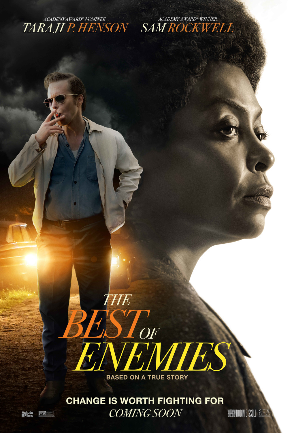 Best of Enemies (2019) - Directed By: Robin BissellStarring: Taraji P. Henson, Sam Rockwell, Babou Ceesay, Anne Heche, Wes BentleyRated: PG-13Run Time: 2h 13mTMM Score: 2 StarsStrengths: Sam Rockwell, True StoryWeakness: The Film is Very Paint by Numbers