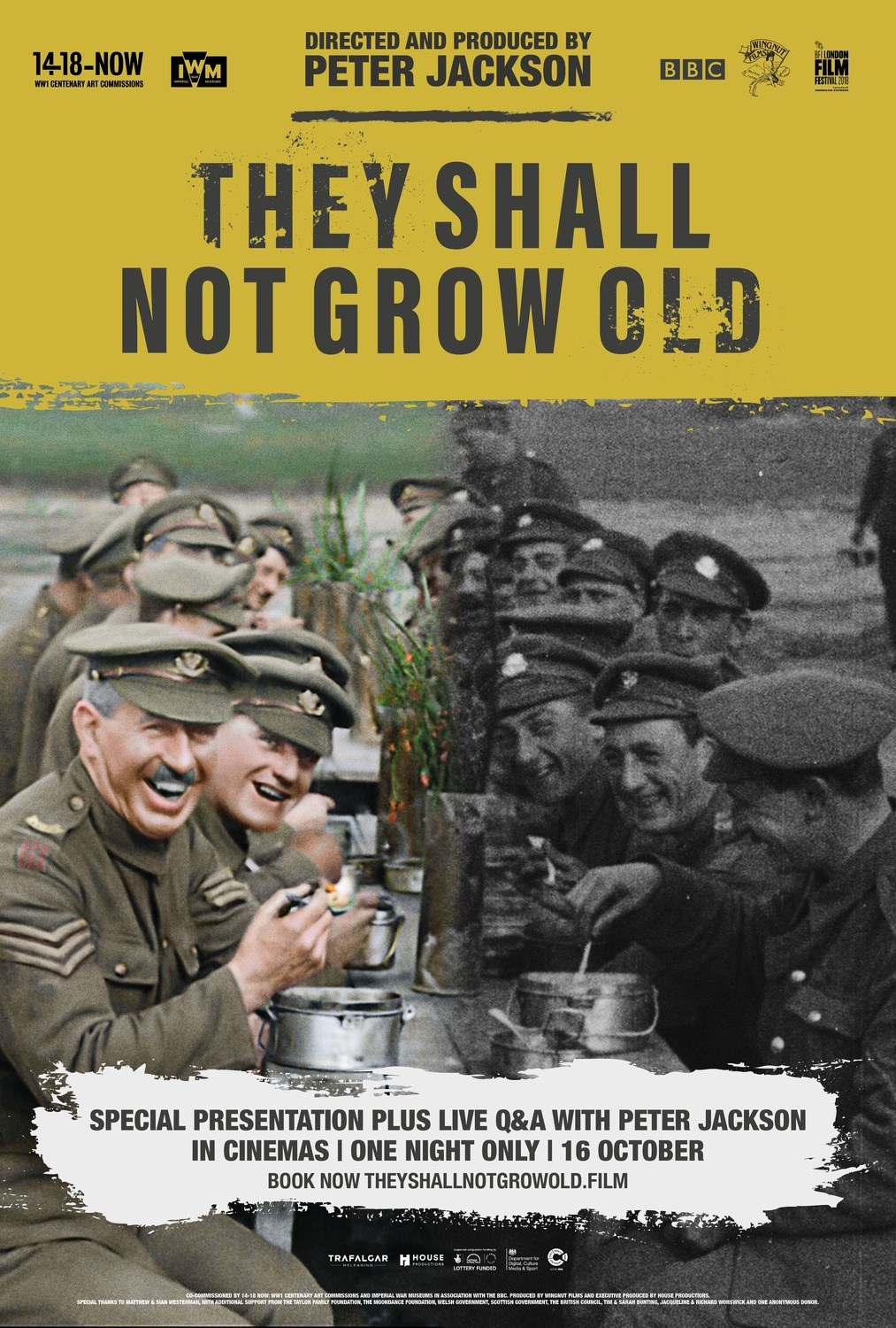 They Shall Not Grow Old (2019) - Directed by: Peter JacksonStarring: -Rated: R for Graphic War ImagesRunning Time: 1h 39mTMM Score: 5 StarsSTRENGTHS: EverythingWEAKNESSES: -