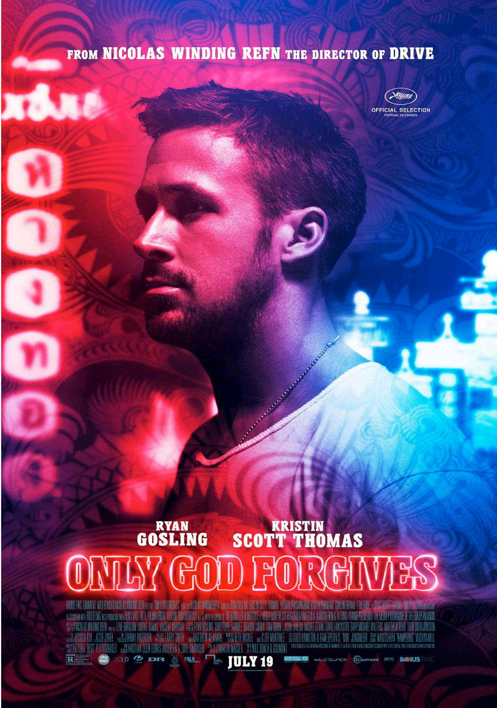 Only God Forgives (2013) - Directed By: Nicolas Winding RefnStarring: Ryan Gosling, Kristin Scott Thomas, Vithaya PansringarmRated: RRun Time: 1h 30mTMM Score: 3 StarsStrengths: Visuals, ScoreWeakness: Acting, Shallow Substance