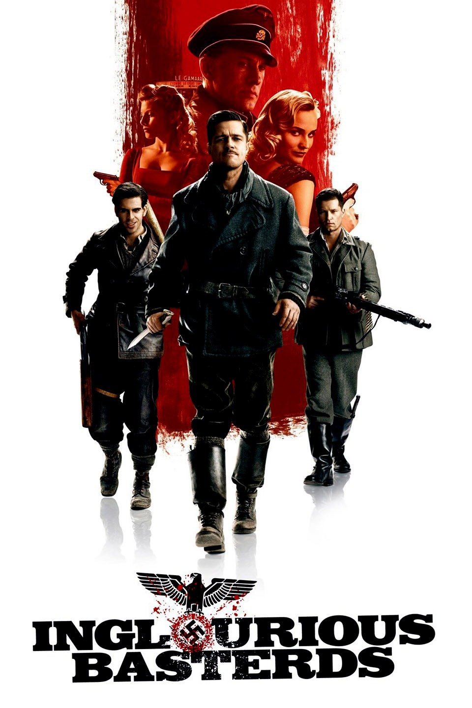 Inglourious Basterds (2009) - Directed by: Quentin TarantinoStarring: Brad Pitt, Christoph Waltz, Michael Fassbender, Diane Kruger, Melanie Laurent, Eli Roth, Til Schweiger, Daniel BruhlRated: R for Strong Graphic Violence, Language and Brief SexualityRunning Time: 2h 33mTMM Score: 5 StarsSTRENGTHS: EverythingWEAKNESSES: -