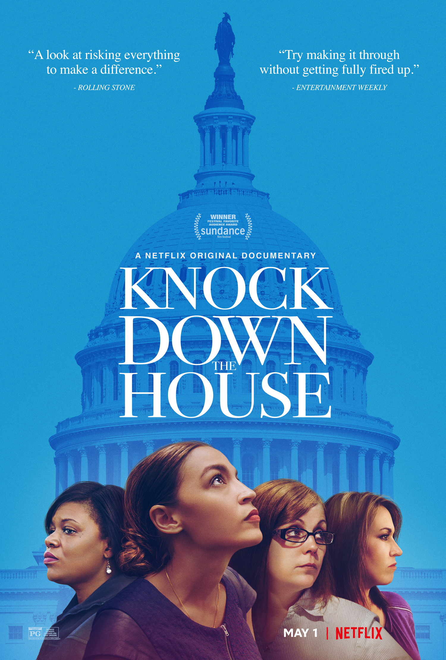 Knock Down the House (2019) - Directed By: Rachel LearsStarring: Alexandria Ocasio-Cortez, Cori Bush, Joe CrowleyRated: PGRun Time: 1h 26mTMM Score: 2 StarsStrengths: Name RecognitionWeakness: Simple, Uninspired