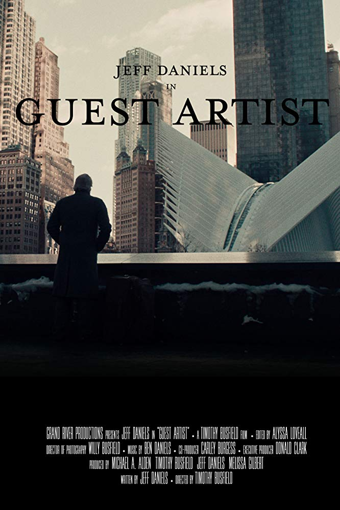 Guest Artist (2019) - Directed by: Timothy BusfieldStarring: Jeff Daniels, Thomas Marcias, Erika SlezakRated: NR (Suggested R for Some Language)Running Time: 1 h 14 mTMM Score: 3.5 stars out of 5STRENGTHS: Writing, Themes, Jeff DanielsWEAKNESSES: Some Shaky Acting, Pacing, Audio