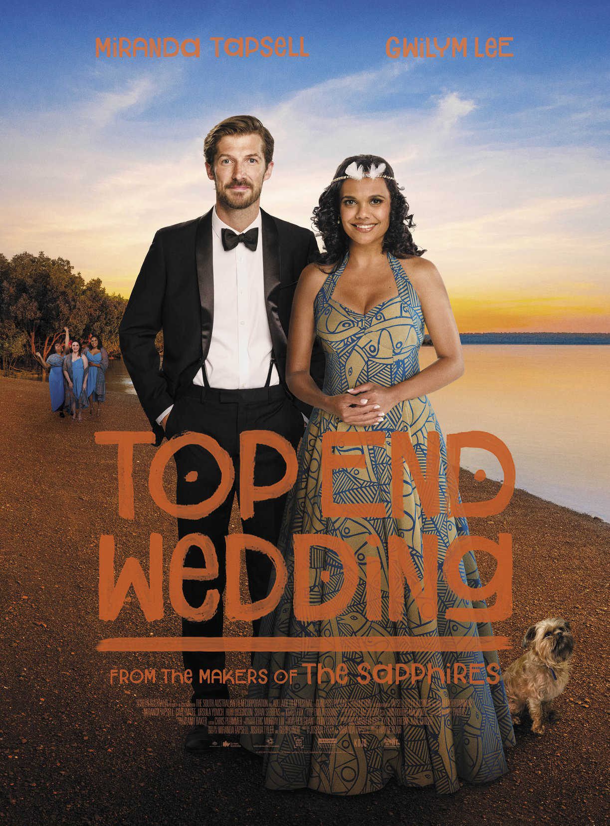 Top End Wedding  (2019) - Directed by: Wayne BlairStarring: Gwilym Lee, Miranda Tapsell, Kerry Fox, Ursula YovichRated: NR (TMM Suggested: PG-13 for Some Sexual Humor)Running Time: 1 h 43 m TMM Score: 2.5 stars out of 5STRENGTHS: Cultural Insights, Cinematography WEAKNESSES: Plausibility, Stupid Character Choices, Repeated Jokes