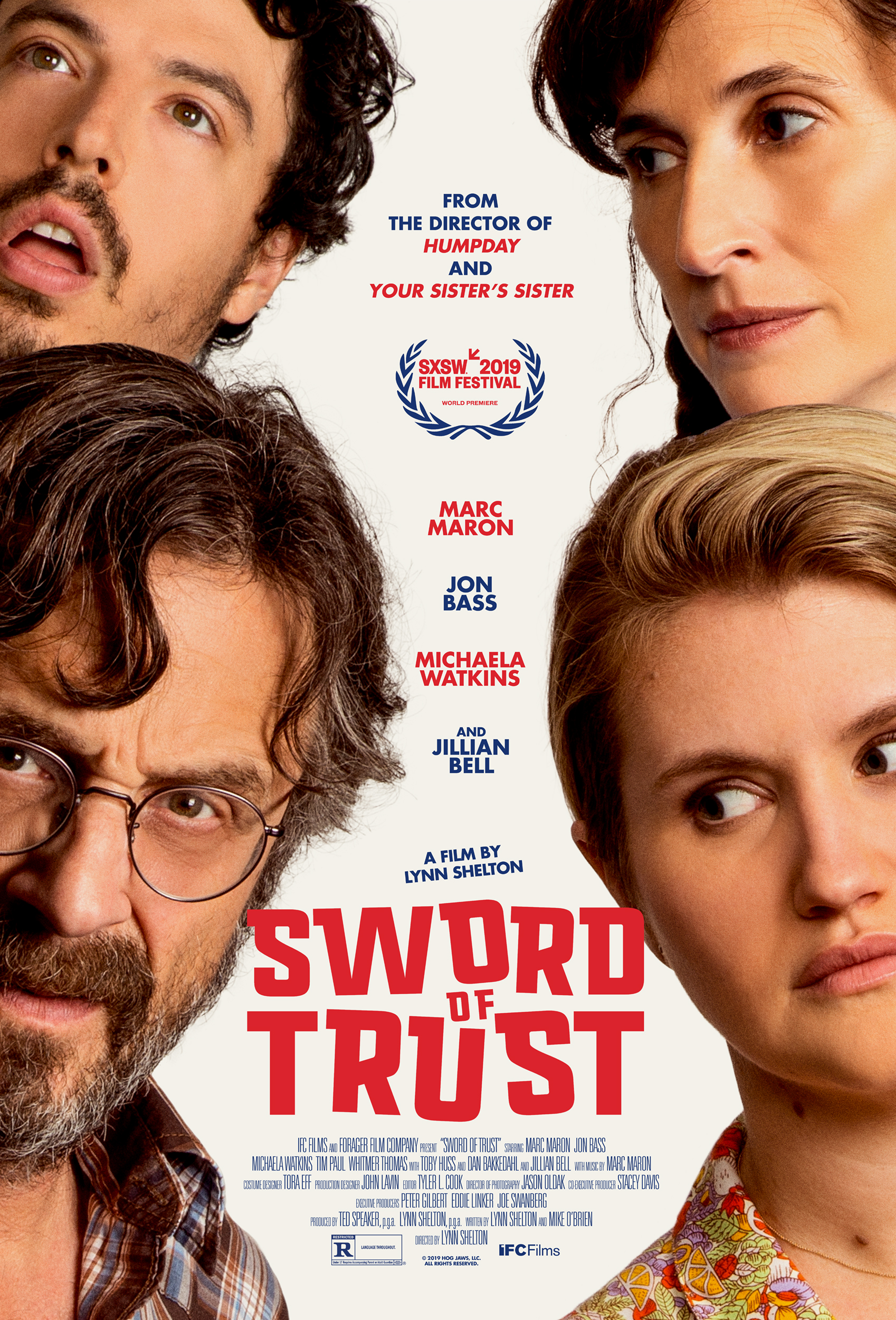 Sword of Trust (2019) - Directed By: Lynn SheltonStarring: Marc Maron, Jon Bass, Michaela Watkins, Jillian Bell, Toby Huss, Dan BakkedahlRated: RRun Time: 1h 28mTMM Score: 3 StarsStrengths: Creative Premis, Funny yet Heartfelt, Not Overly PreachyWeakness: Improv Too Long In Spots, Lacks Fun