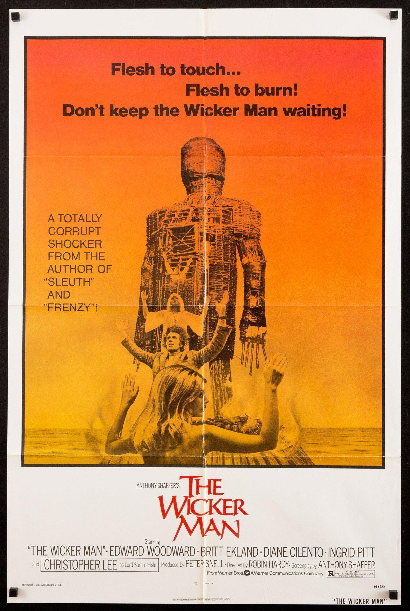 The Wicker Man (1973) - Directed By: Robin HardyStarring: Edward Woodward, Christopher Lee, Diane CilentoRated: RRun Time: 1h 28mTMM Score: 4 StarsStrengths: Theme, Story, ProtagonistWeakness: None