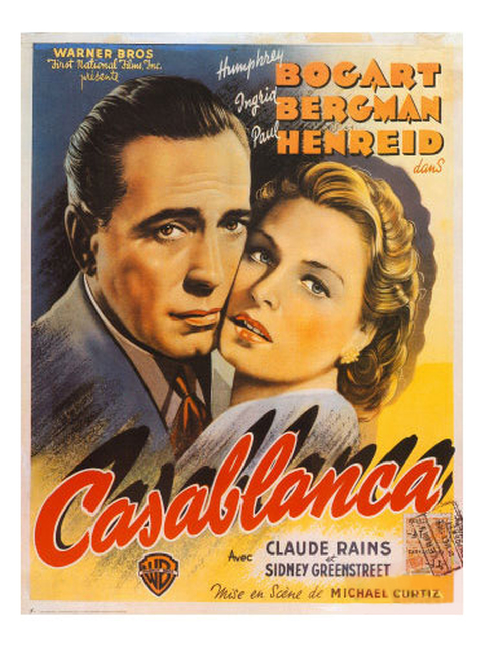 Casablanca (1942) - Directed By: Michael CurtizStarring: Humphrey Bogart, Ingrid Bergman, Paul Henreid, Claude Rains, Conrad Veidt, Peter LorreRated: PGRun Time: 1h 42mTMM Score: 5 StarsStrengths: Cinematography, Acting, LightingWeakness: Nothing