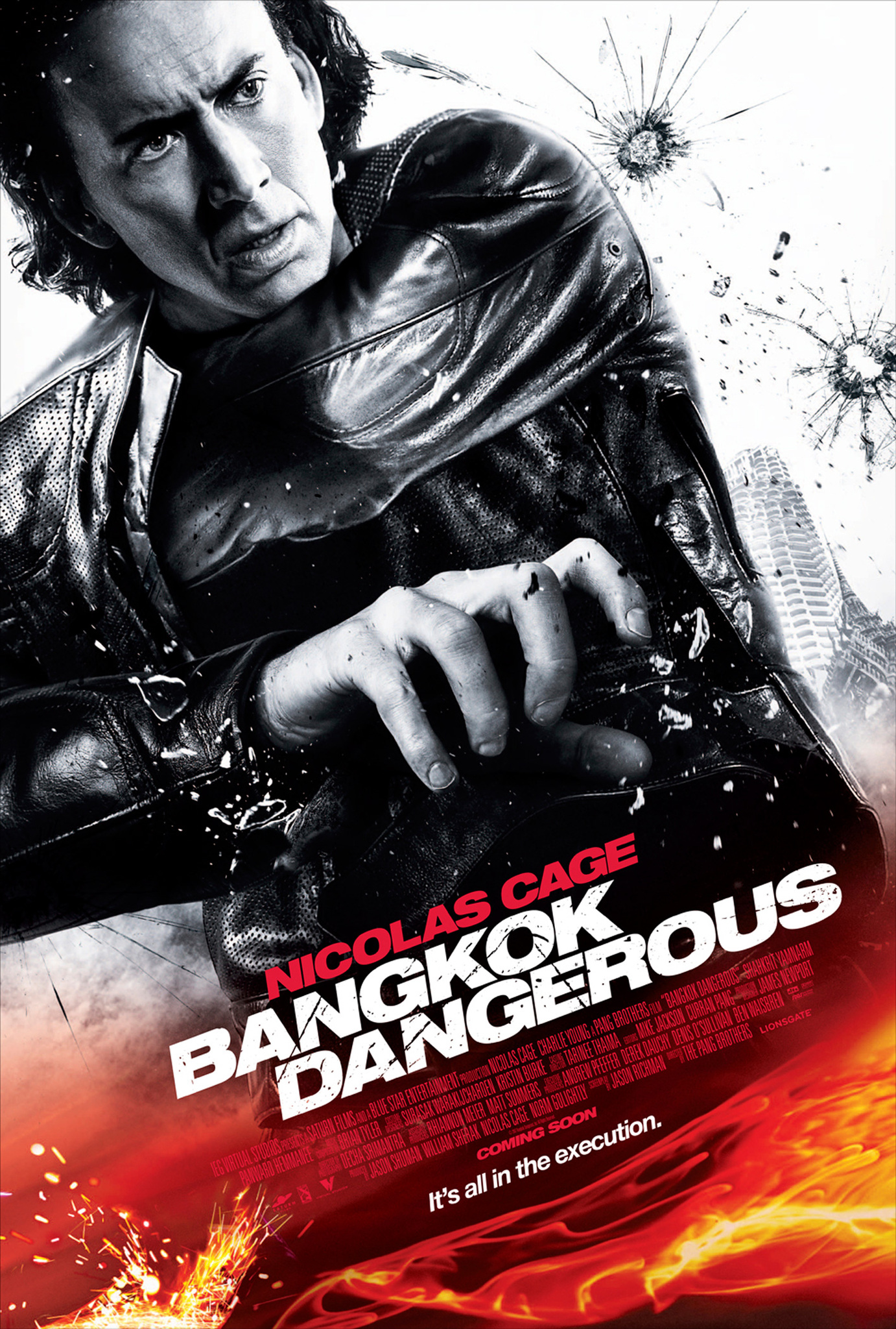 Bangkok Dangerous (2008) - Directed by: The Pang BrothersStarring: Nicolas Cage, Chakrit Yamnam, Charlie YeungRated: R for Violence, Language, Some SexualityRunning Time: 1h 35mTMM Score: 1.5 StarsSTRENGTHS: Almost So Bad It's Good, Unintentionally HilariousWEAKNESSES: Cinematography, Direction, Action, Performances