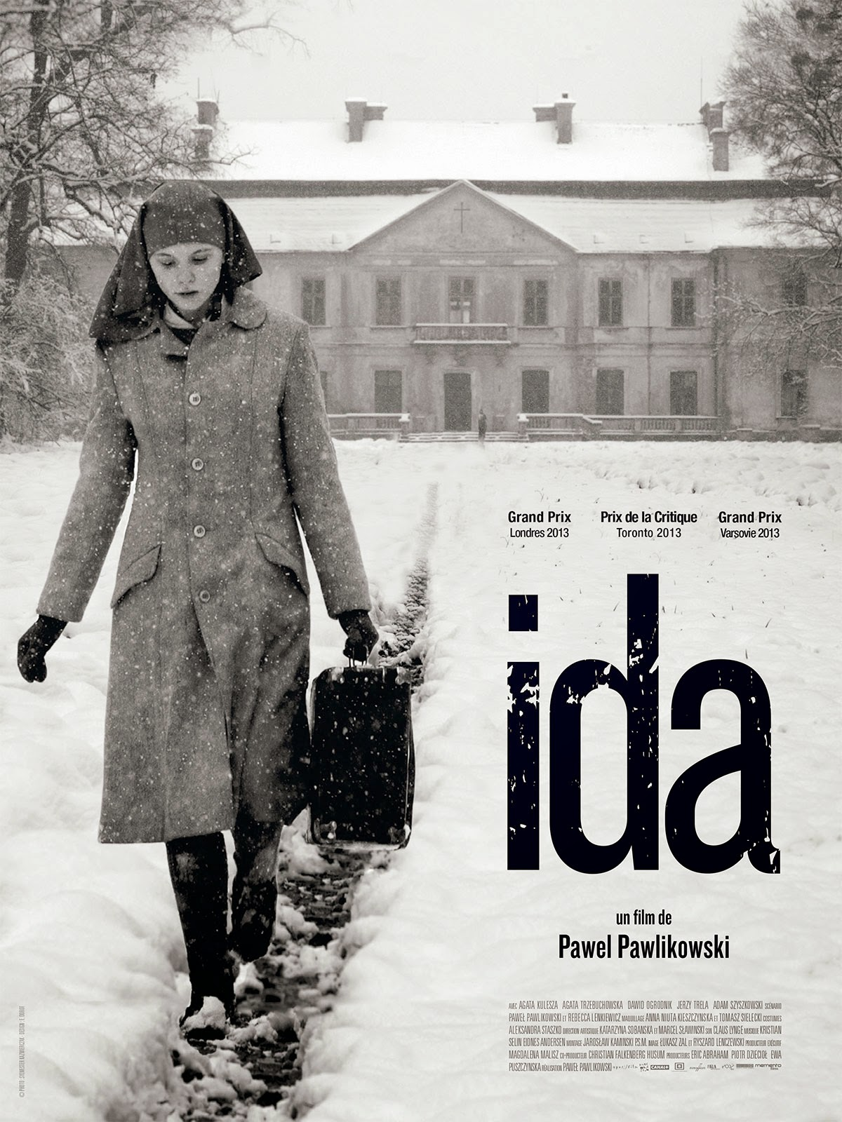 Ida (2013) - Directed by: Pawel PawlikowskiStarring: Agata Kulesza, Agata Trzebuchowska, David Ogrodnik, Adam SzyszkowskiRated: PG-13 for Thematic Elements, Some Sexuality and SmokingRunning Time: 1 h 22 mTMM Score: 5 stars out of 5STRENGTHS: Directing, Writing, Themes, Cinematography, ActingWEAKNESSES: -