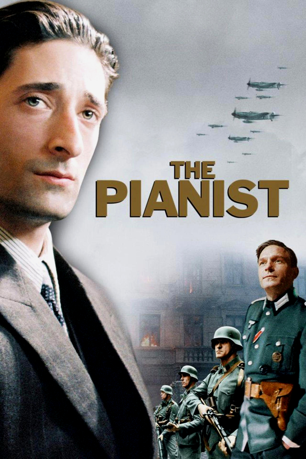 The Pianist (2002) - Directed by: Roman PolanskiStarring: Adrien Brody, Thomas Kretschmann, Frank FinlayRated: R for Violence and Brief Strong LanguageRunning Time: 2 h 30 mTMM Score: 4 stars out of 5STRENGTHS: Directing, Writing, Acting, Production DesignWEAKNESSES: Pacing During Second Act
