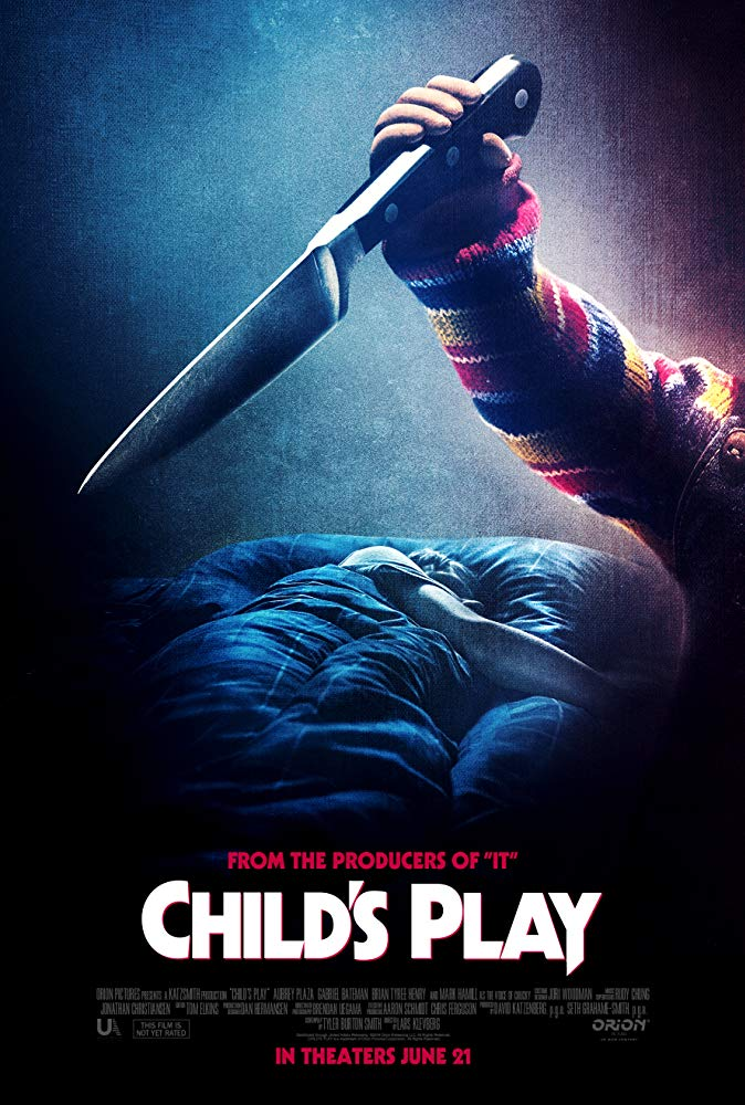 Child's Play (2019) - Directed by: Lars KlevbergStarring: Aubrey Plaza, Mark Hamill, Gabriel Bateman, Brian Tyree HenryRated: R for Bloody Horror Violence, and Language ThroughoutRunning Time: 1 h 30 mTMM Score: 3 stars out of 5STRENGTHS: Some Humor, Some HorrorWEAKNESSES: It's Pretty Silly