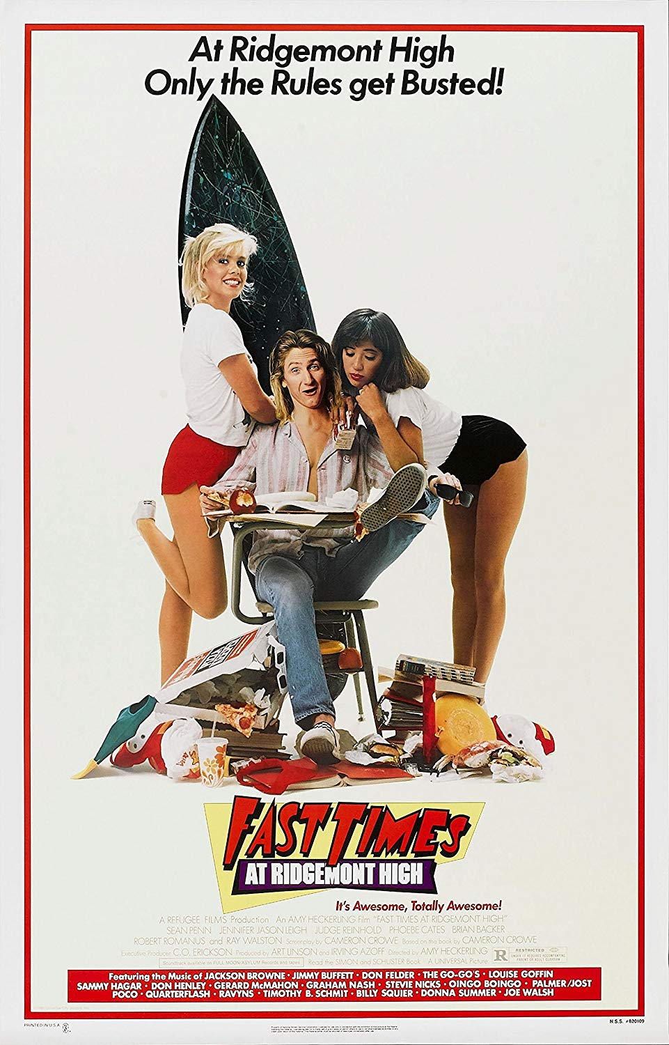 Fast Times at Ridgemont High (1982) - Directed By: Amy HeckerlingStarring: Sean Penn, Jennifer Jason Leigh, Judge Reinhold, Robert Romanus, Brian Backer, Phoebe Cates, Ray WalstonRated: RRun Time: 1h 30mTMM Score: 3 StarsStrengths: CharactersWeakness: It Has Aged