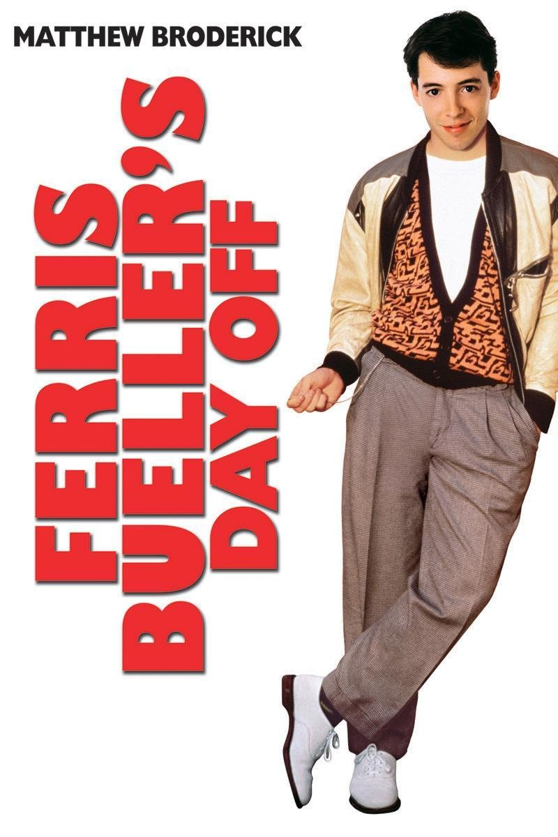 Ferris Bueller's Day Off (1986) - Directed by: John HughesStarring: Matthew Broderick, Alan Ruck, Mia Sara, Jeffrey JonesRated: PG-13Running Time: 1 h 43 mTMM Score: 3.5 stars out of 5STRENGTHS: Humor, Inventive Writing, ThemesWEAKNESSES: Some Pacing