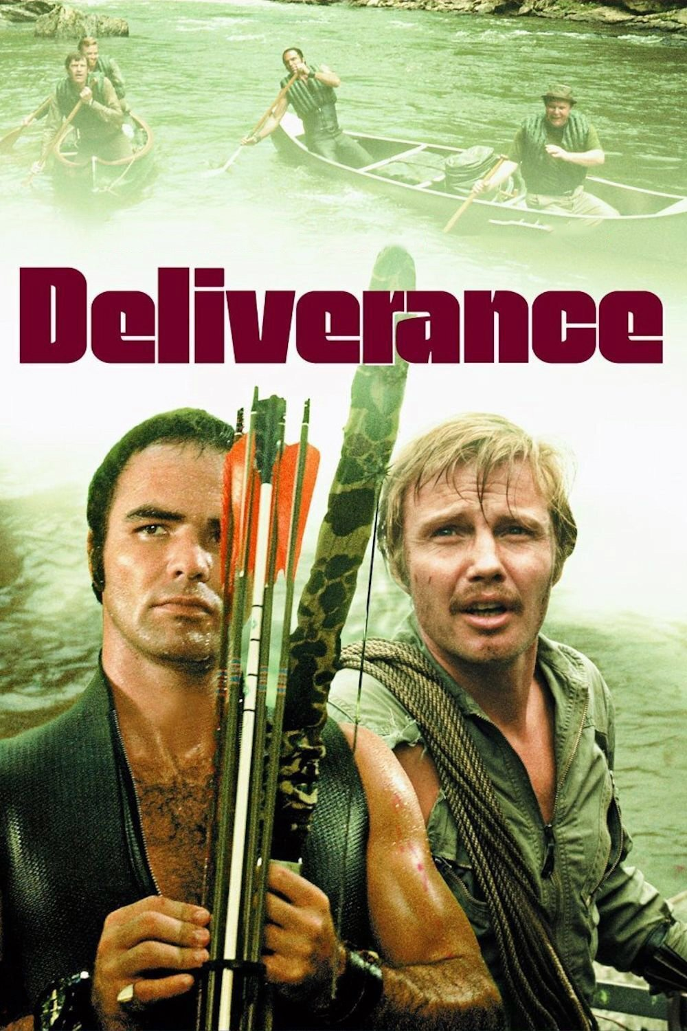 Deliverance (1972) - Directed by: John BoormanStarring: Jon Voight, Burt Reynolds, Ned Beatty, Ronny CoxRated: R for Disturbing Content, Violence, and Some LanguageRunning Time: 1h 48mTMM Score: 5 StarsSTRENGTHS: Atmosphere, Performances, ClassicWEAKNESSES: Needs a Good Restoration