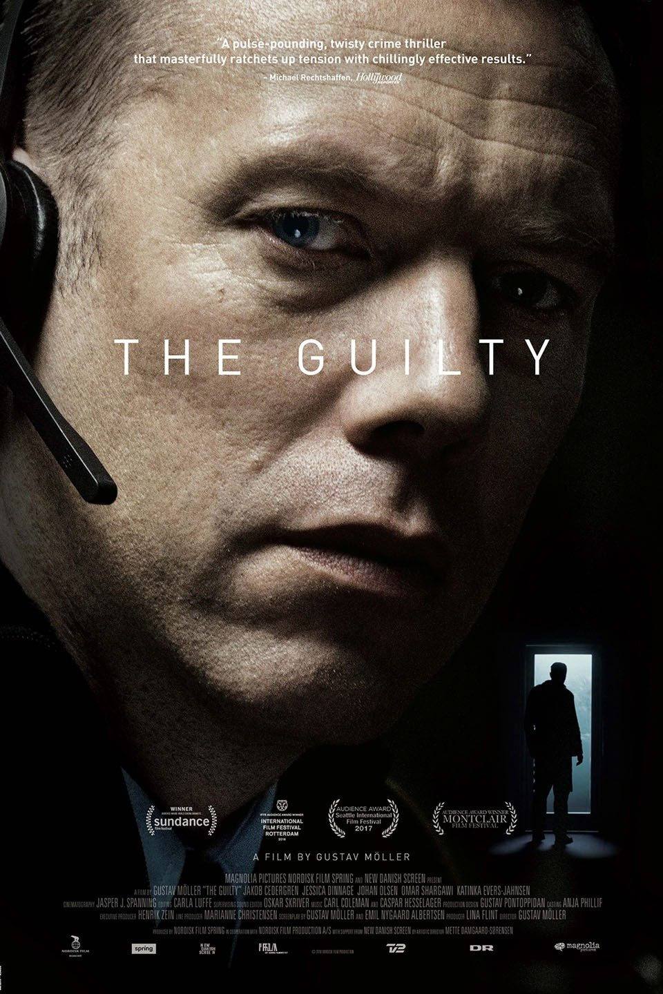 The Guilty (2018) - Directed by: Gustav MollerStarring: Jakob Cerdergren, Jessica Dinnage, Johan Olsen, Katinka Evers-JahnsenRated: R for LanguageRunning Time: 1 h 25 mTMM Score: 4.5 stars out of 5STRENGTHS: Writing, Directing, World Building, PacingWEAKNESSES: A Bit Heavy Handed Near the Climax