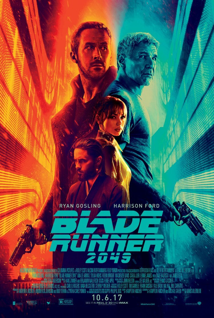 Blade Runner 2049 (2017) - Directed By: Denis VilleneuveStarring: Harrison Ford, Ryan Gosling, Ana de Armas, Robin WrightRated: RRun Time: 2h 44mTMM Score: 5 StarsStrengths: Cinematography, AtmosphereWeakness: Certain Characters, On The Nose Dialogue, Action Sequence