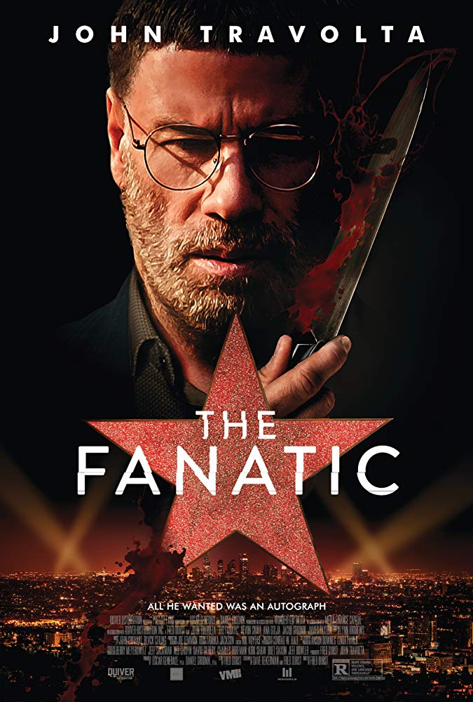 The Fanatic (2019) - Directed by: Fred DurstStarring: John Travolta, Devon Sawa, Ana GoljaRated: R for Some Strong Violence, and Language ThroughoutRunning Time: 1 h 28 mTMM Score: 1.5 stars out of 5STRENGTHS: John Travolta's Unique PerformanceWEAKNESSES: Story, Dialogue, Characters
