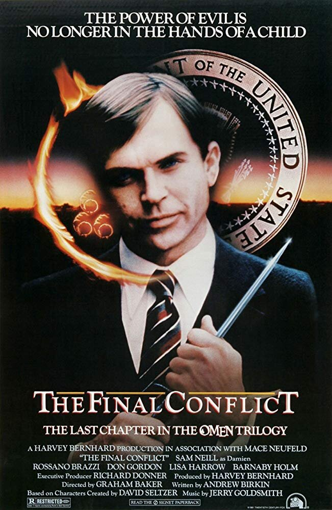 The Omen III: The Final Conflict (1981) - Directed by: Graham BakerStarring: Sam Neill, Rossona Brazzi, Don GordonRated: RRunning Time: 1 h 48 mTMM Score: 1 stars out of 5STRENGTHS: NothingWEAKNESSES: Story, Writing, Acting