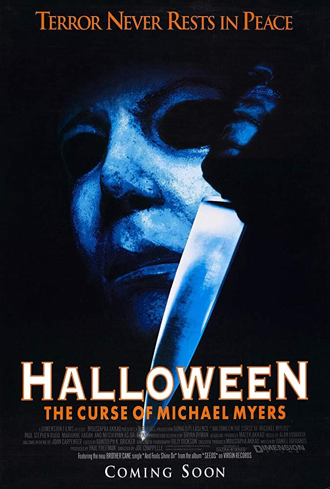 Halloween VI: The Curse of Michael Myers (1995) - Directed by: Joe ChapelleStarring: Donald Pleasence, Paul Rudd, Marianne HaganRated: RRunning Time: 1 h 27 mTMM Score: 1 stars out of 5STRENGTHS: Two Cool KillsWEAKNESSES: Everything Else