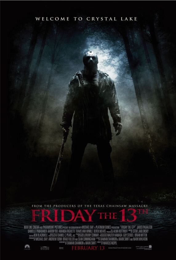 Friday the 13th (2009) - Directed by: Marcus NispelStarring: Jared Padelecki, Danielle Panabaker, Amanda RighettiRated: R for Strong Bloody Violence, Some Graphic Sexual Content, Language and Drug MaterialRunning Time: 1 h 46 mTMM Score: 0.5 stars out of 5STRENGTHS: Absolutely NothingWEAKNESSES: Misogynistic and Unlikable Characters, Stupid Plot Progression, Acting