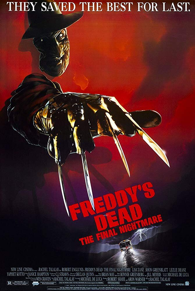 Freddy's Dead: The Final Nightmare (1991) - Directed by: Rachel TalalayStarring: Robert Englund, Lisa Zane, Shon Greenblatt, Yaphet Kotto, Johnny Depp, Roseanne BarrRated: RRunning Time: 1 h 29 mTMM Score: 1.5 stars out of 5STRENGTHS: Freddy's Origin, One or Two Dream SequencesWEAKNESSES: Everything Else
