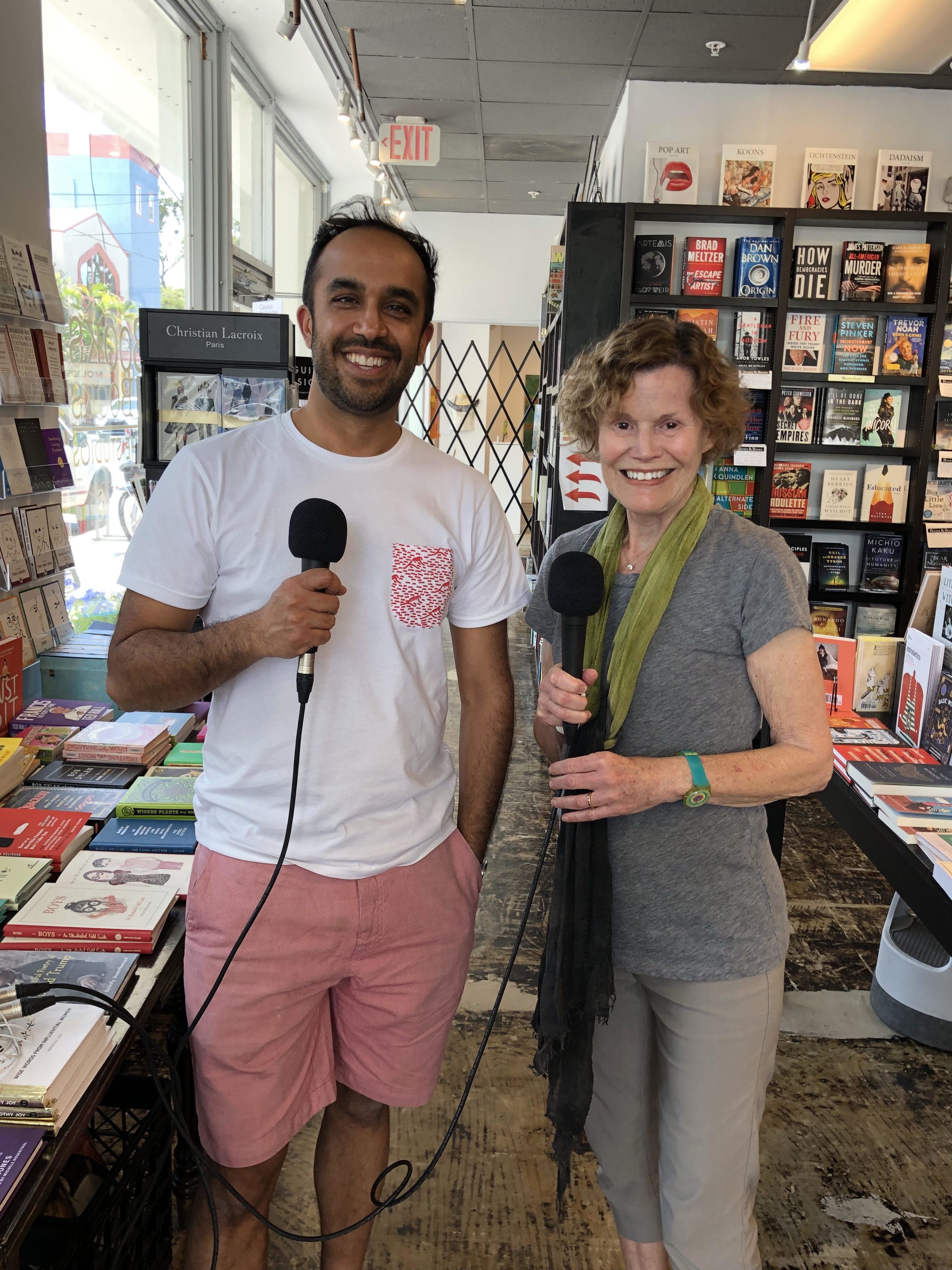 Me and the wonderful Judy Blume when she was giving me a tour of her bookstore in Key West.