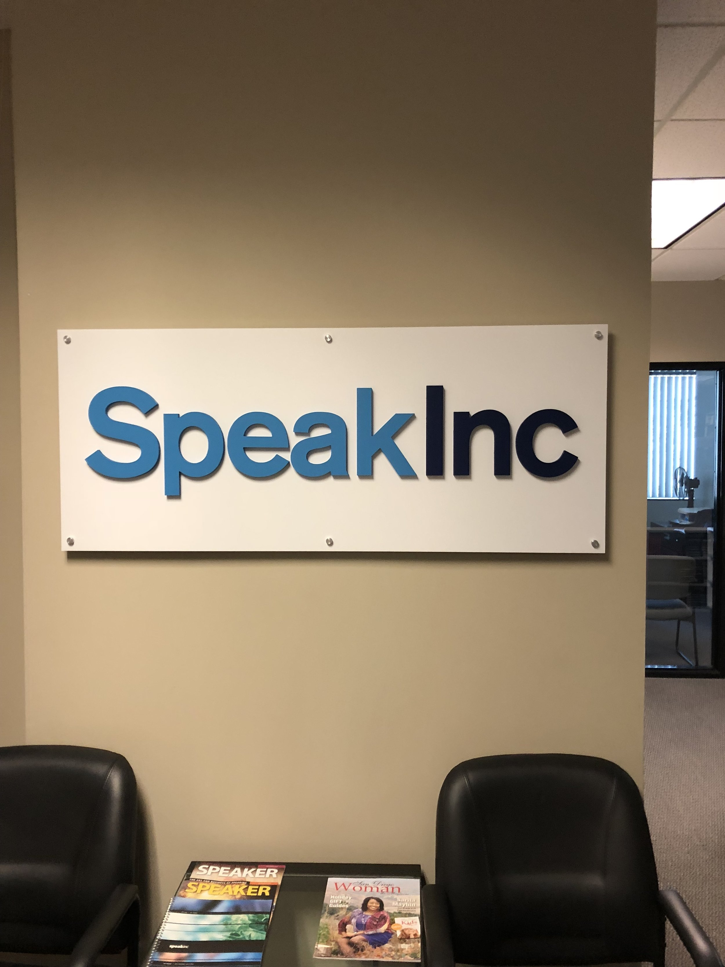 Walking into Speak Inc!