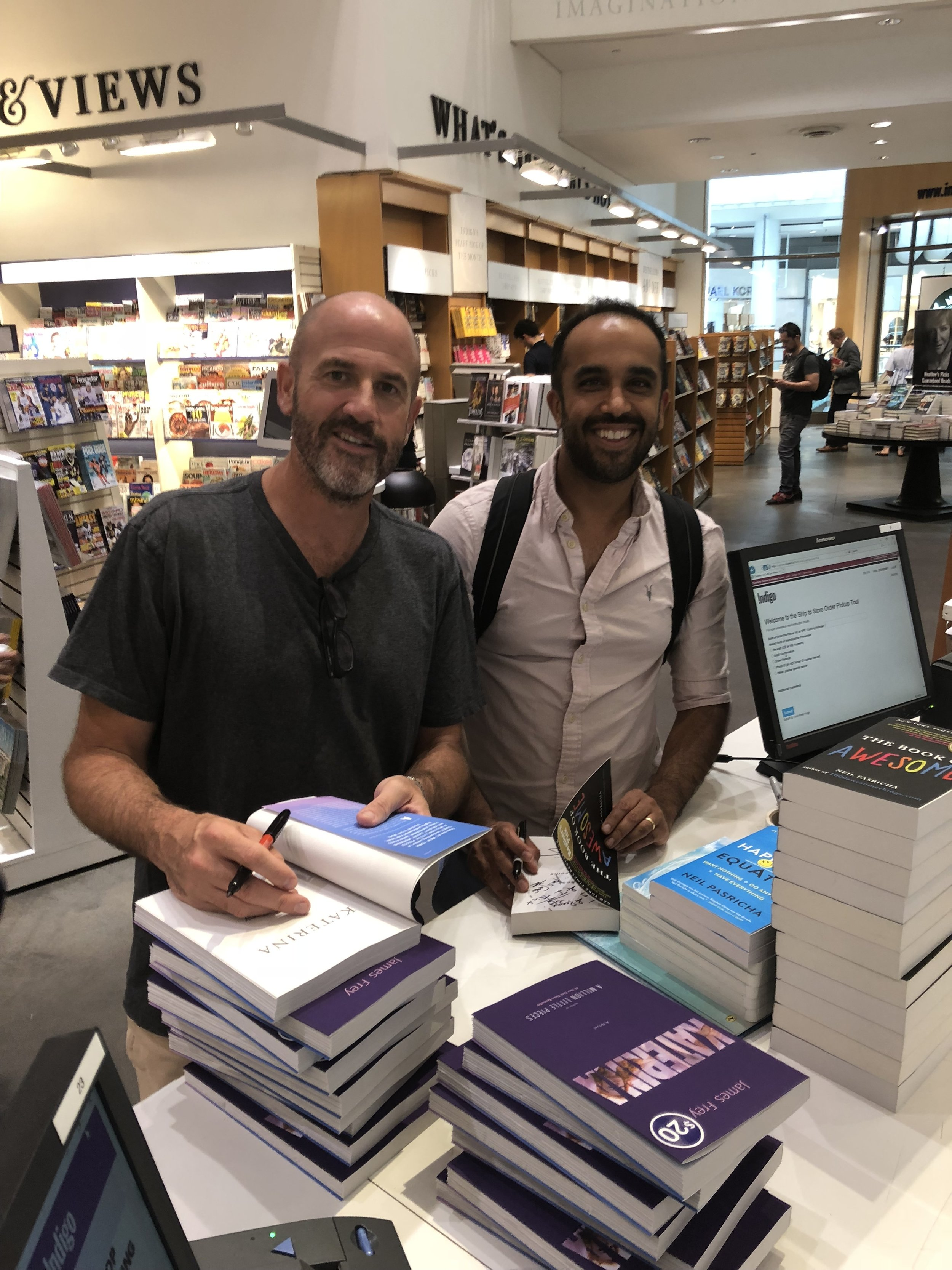 We capped off our podcast by going to a local bookstore and signing both of our books.