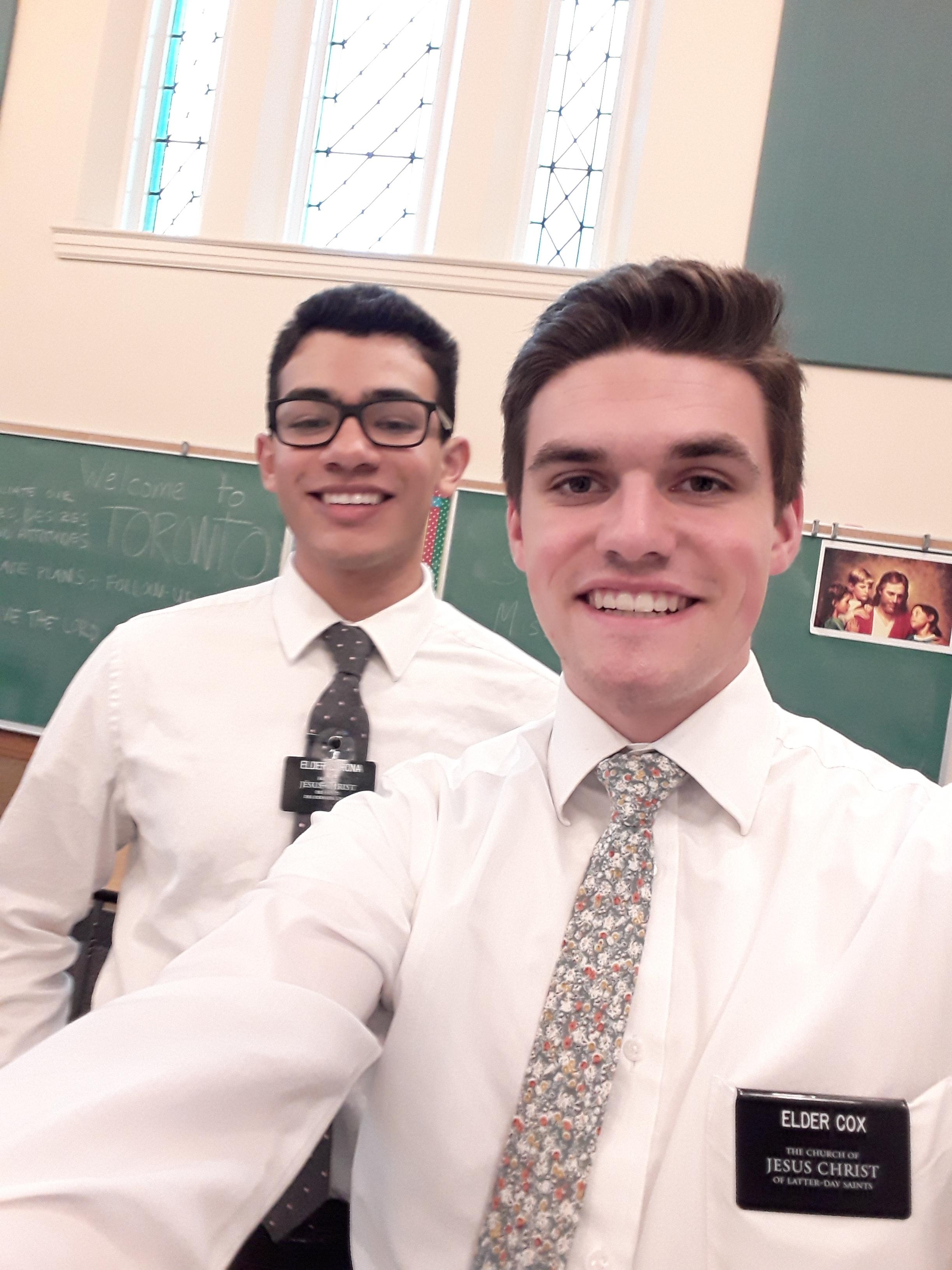 Elder Cox and Elder Corona