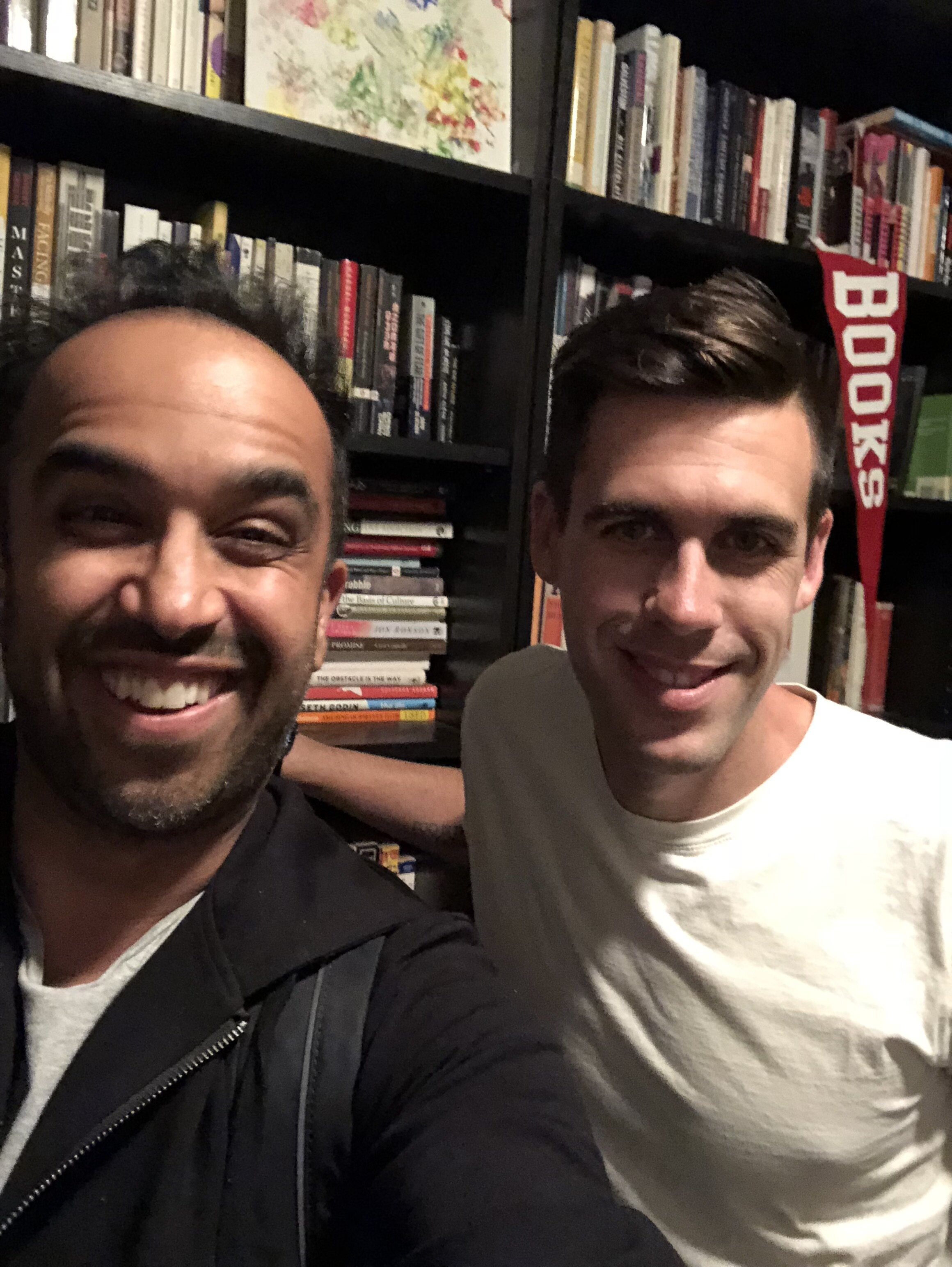 Me and Ryan with … you guessed it, books!