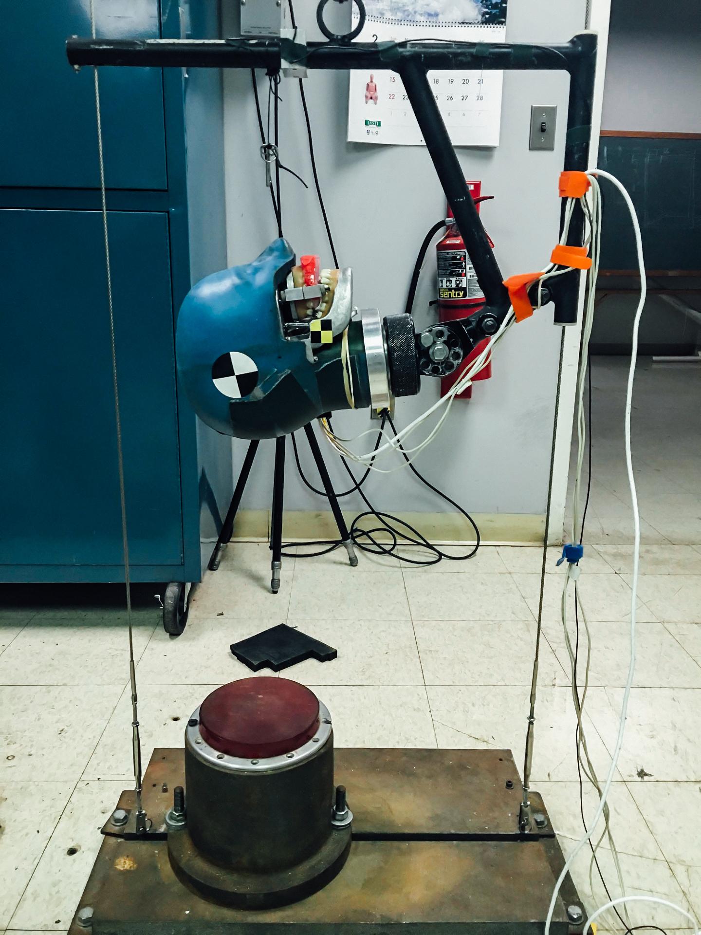 Figure 2a: Headform drop system