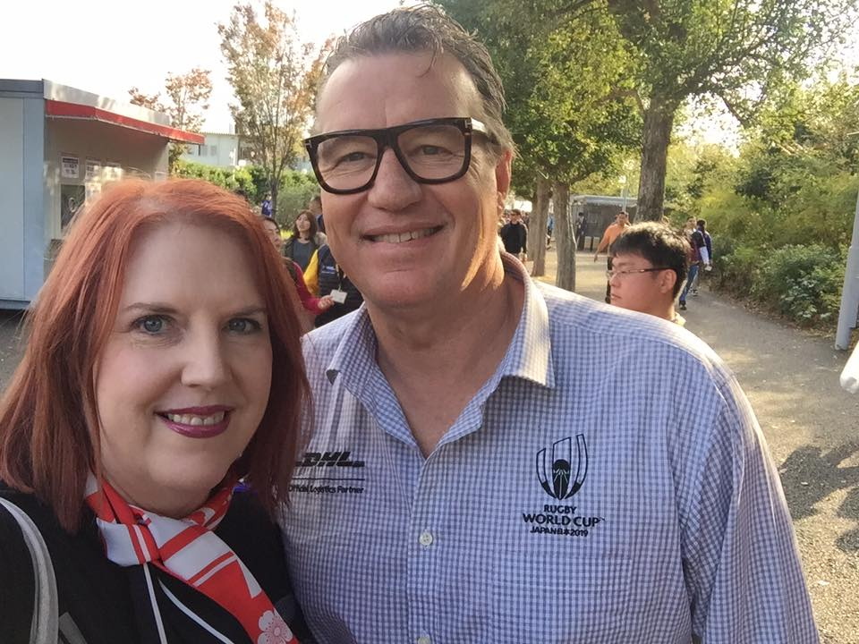 Catherine meets former All Black John Kirwan