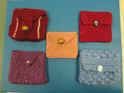 Rosary pouches! A new endeavor that we hope to make available some time soon through our on-line gift shop.