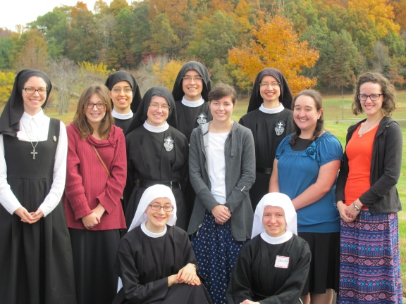 Four gals from northern Illinois, Virginia, Arkansas and Kentucky joined us for our October 2015 Vocation Retreat
