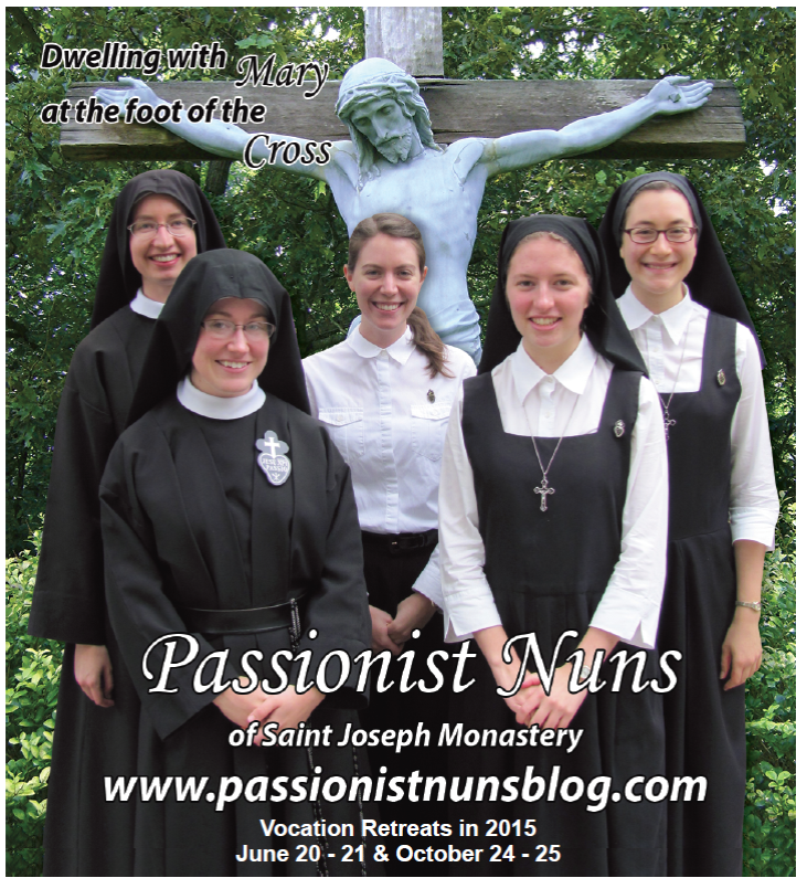 A new vocation ad featured in National Catholic Register and other newspapers.
