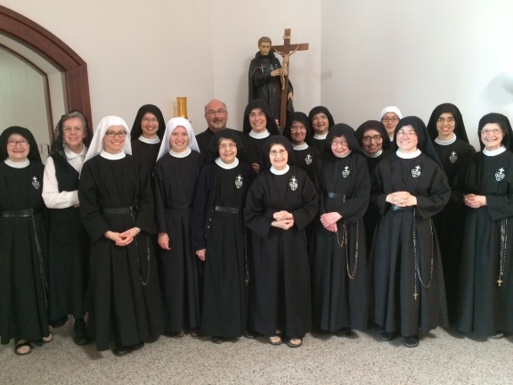Fr. Pat Reynolds was the representative for our Bishop Medley who was unable to be present. Here he is with newly elected Mother John Mary and the monastic community