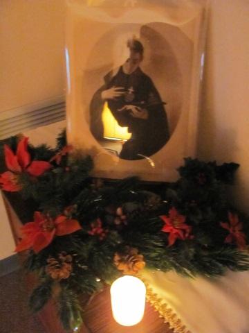 A display honoring St. Gabriel