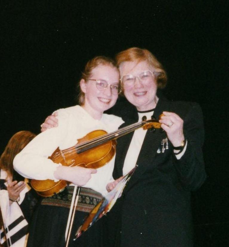 Orchestra recital in 7th grade.