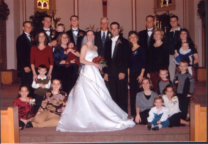 Andrea at a family wedding