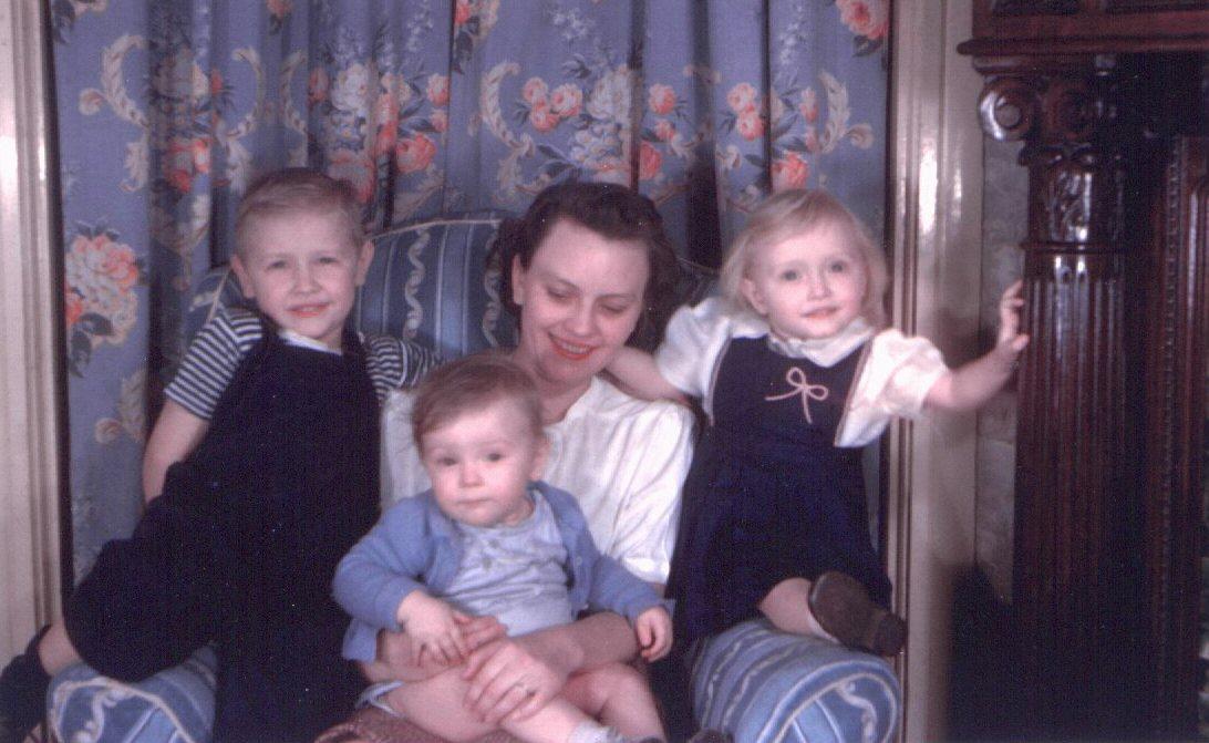 Eddie, Bill, Mom, and Kay